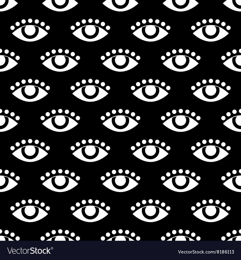 Seamless pattern with eye flat