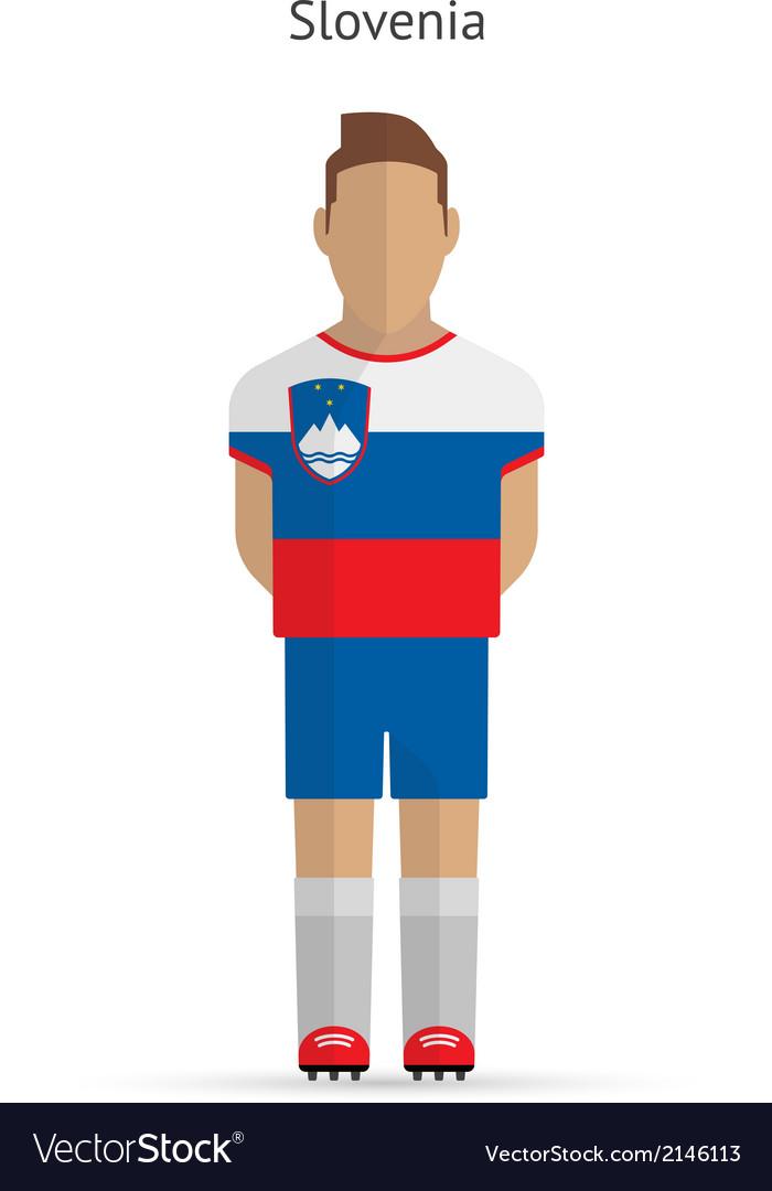 Slovenia football player Soccer uniform vector image