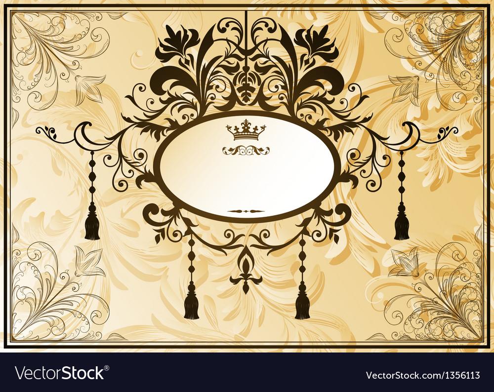 Vintage background with ornate frame