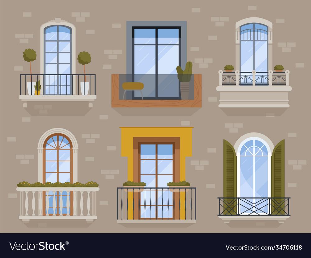 Balcony modern facade exterior architectural