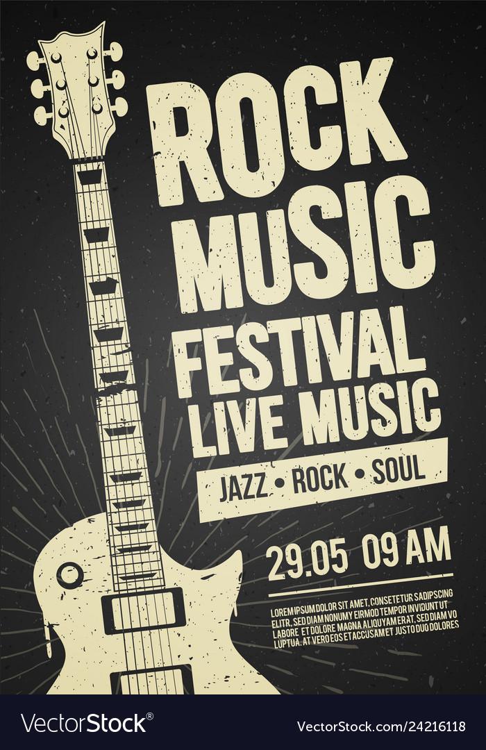 Black rock festival concert party flyer or poster