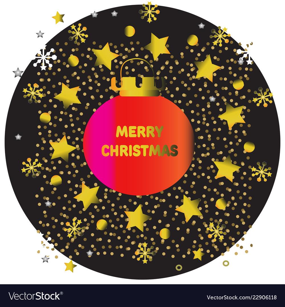 Christmas design template with christmas balls and