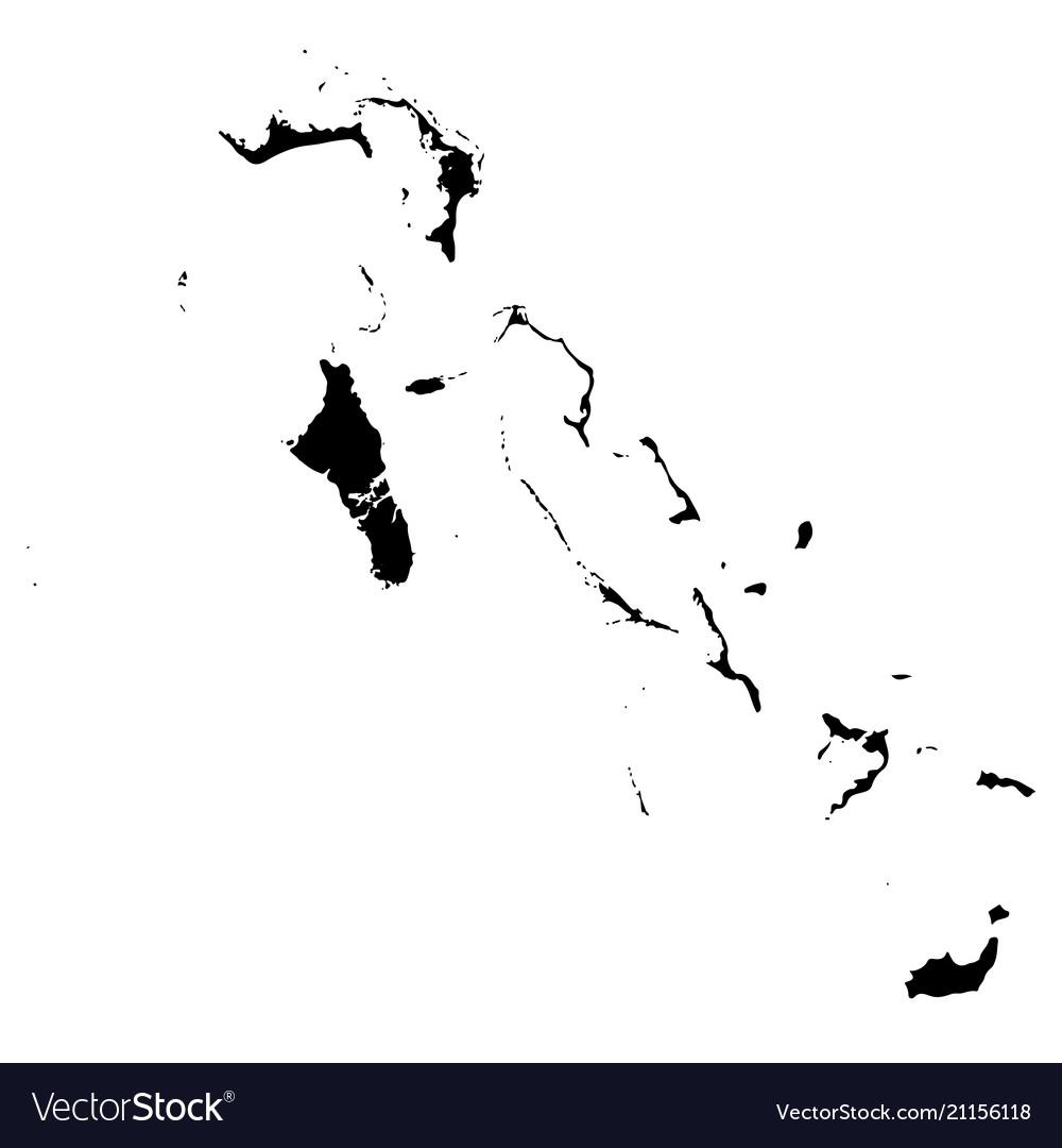 Map bahamas isolated black