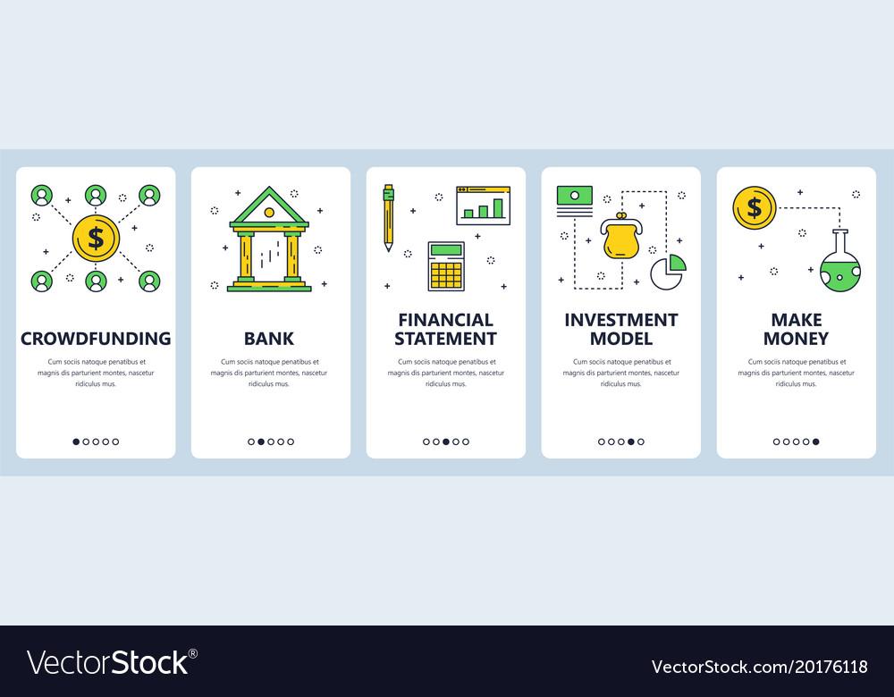 Modern thin line crowdfunding vertical web