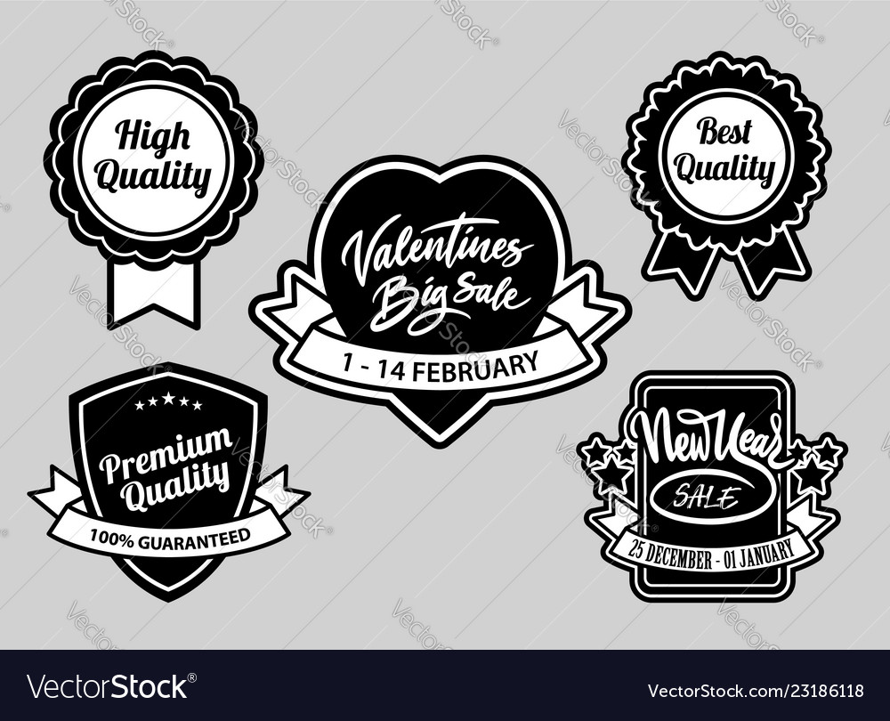 Valentines and event sale label badges