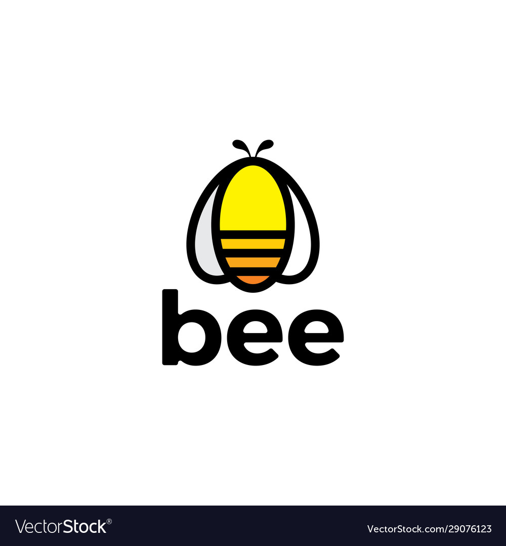 Abstract bee icon with modern minimalist style