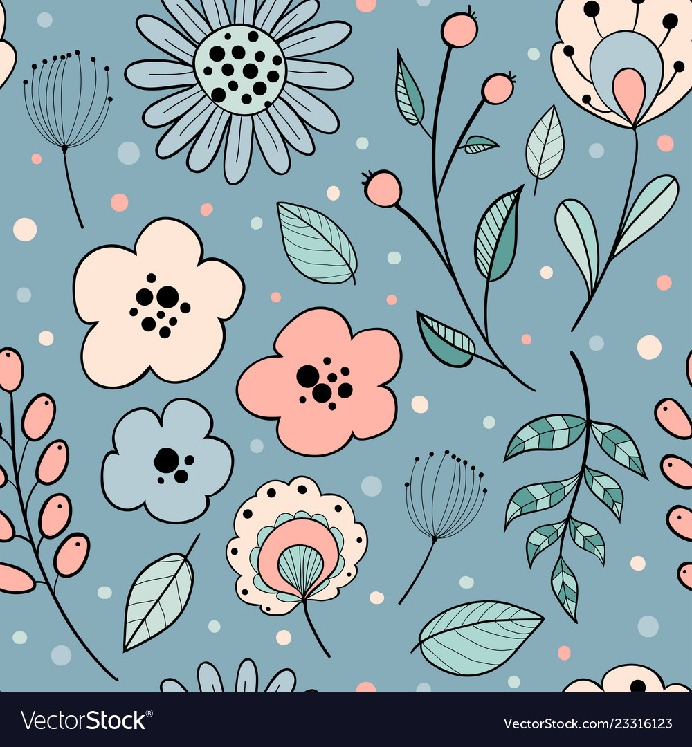 Abstract floral graphic design
