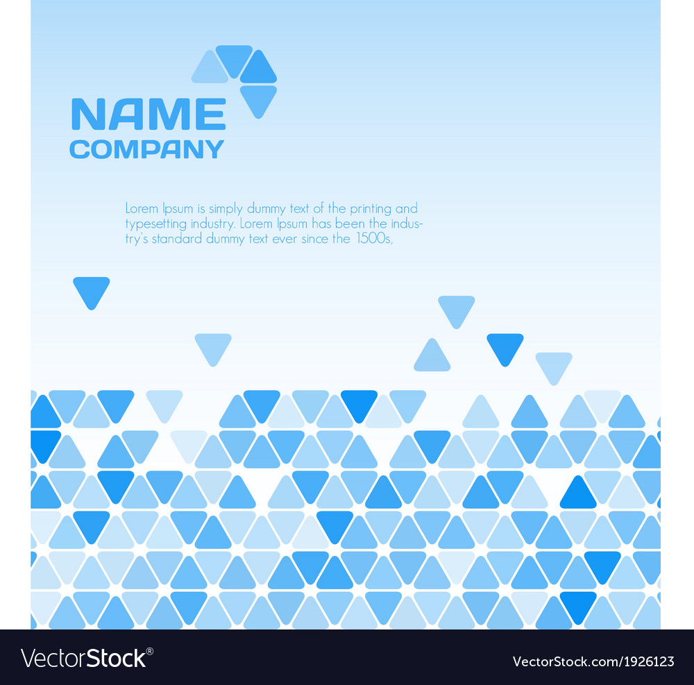 Business blue background