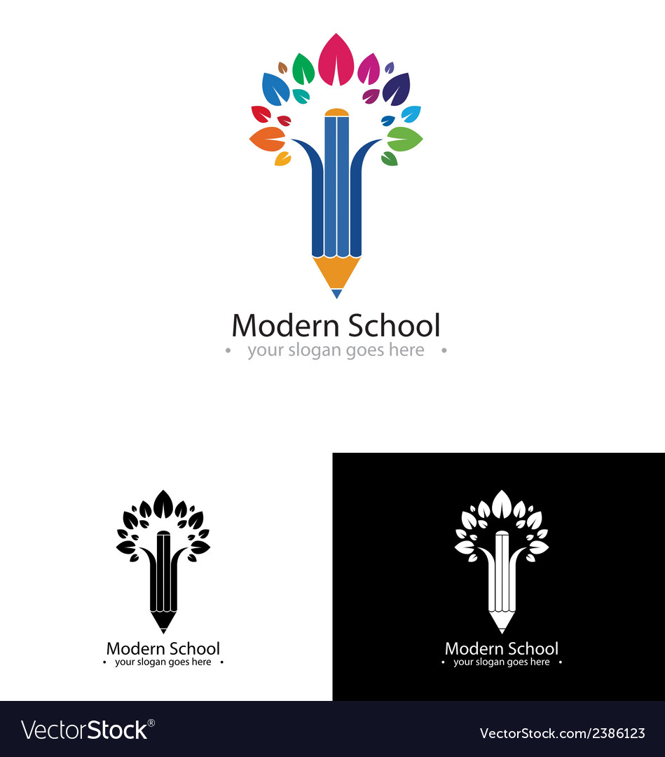 Colorful school logo