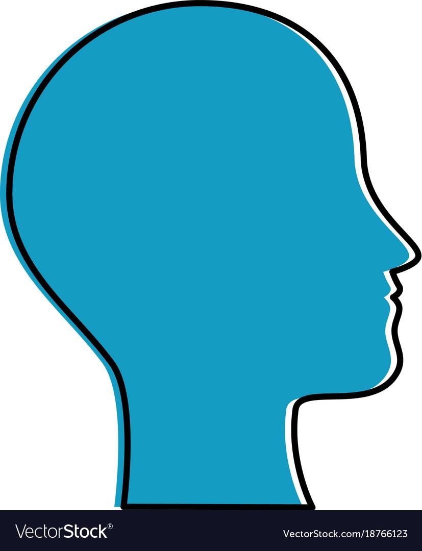 Human profile isolated icon