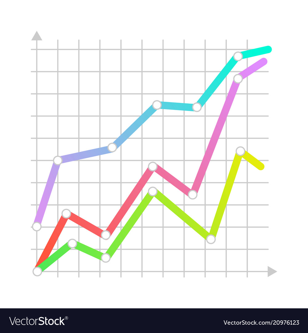 linear graph chart icon royalty free vector image