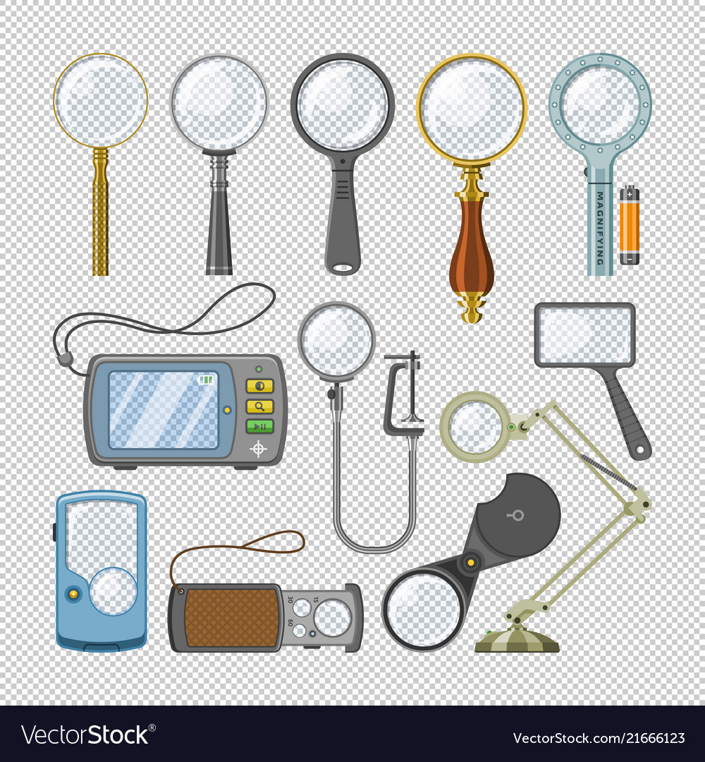 Magnifying glass magnification zoom and