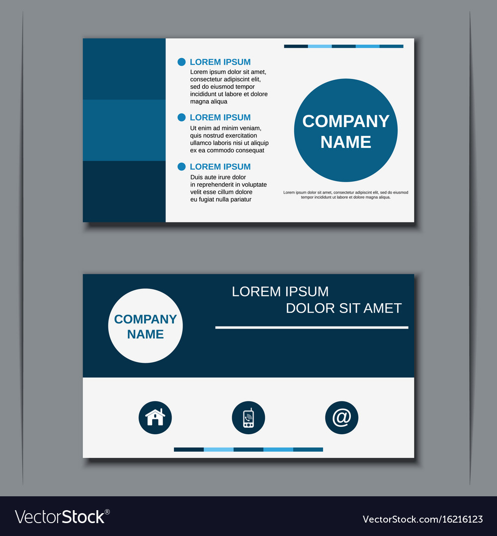 Modern Business Visiting Card Design Vector Image