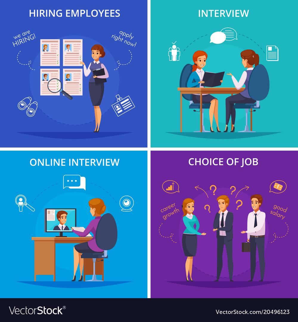 Recruitment flat design concept vector image
