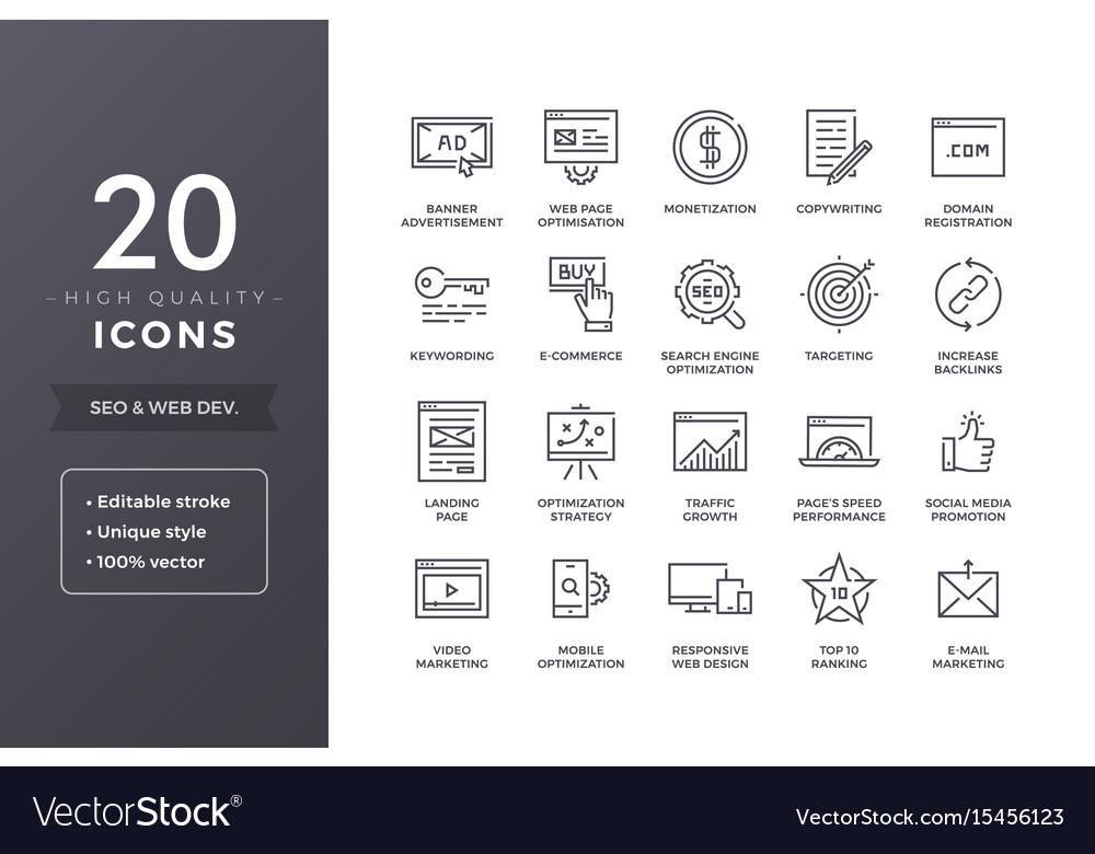Seo line icons