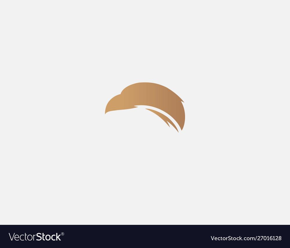 Abstract Golden Logo Sign Eagle Head Bird Prey Vector Image
