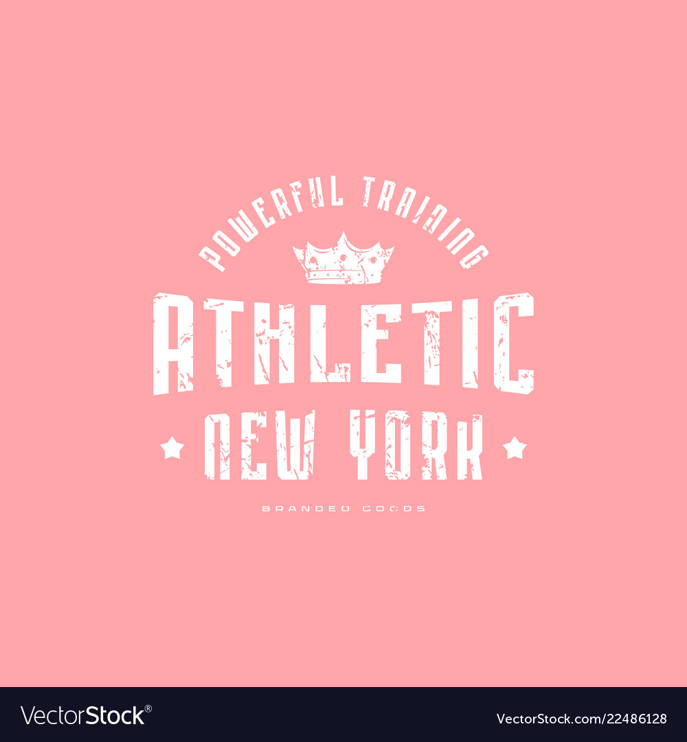 Athletic emblem for t-shirt