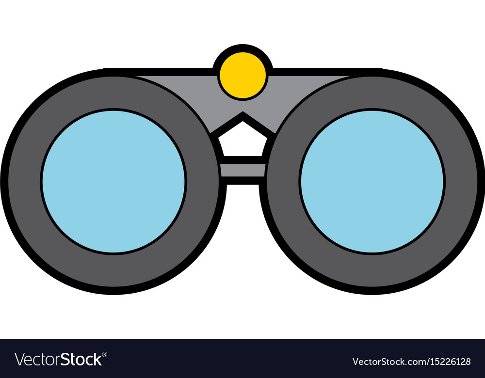 cute grey binoculars cartoon royalty free vector image rh vectorstock com binoculars vector free binoculars vector icon