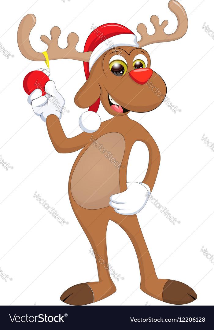 Funny Happy Cartoon Christmas Reindeer