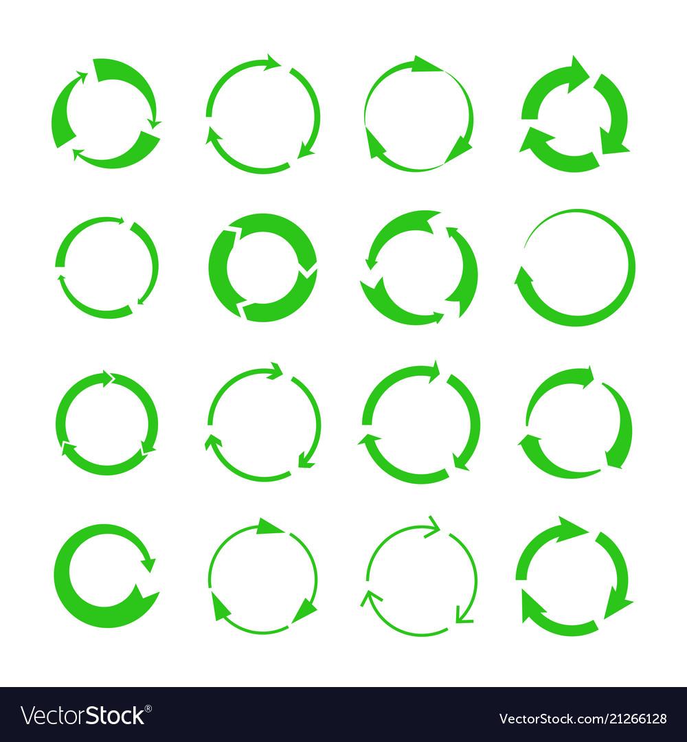 Green recycling arrows