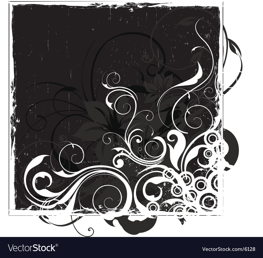 Urban floral background vector image
