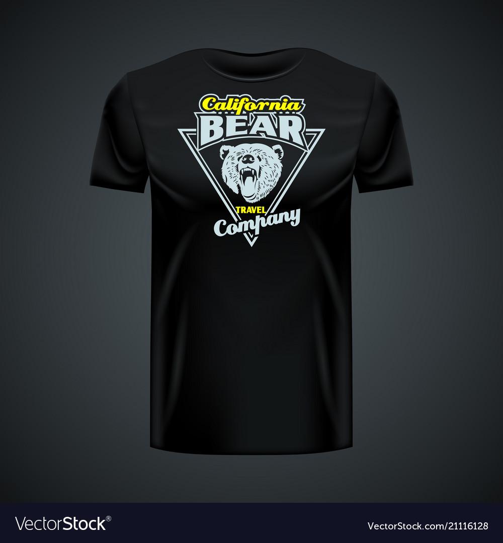 Vintage logo california bear company printed on
