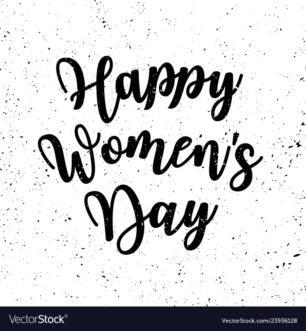 Womens day grunge poster with text greeting card