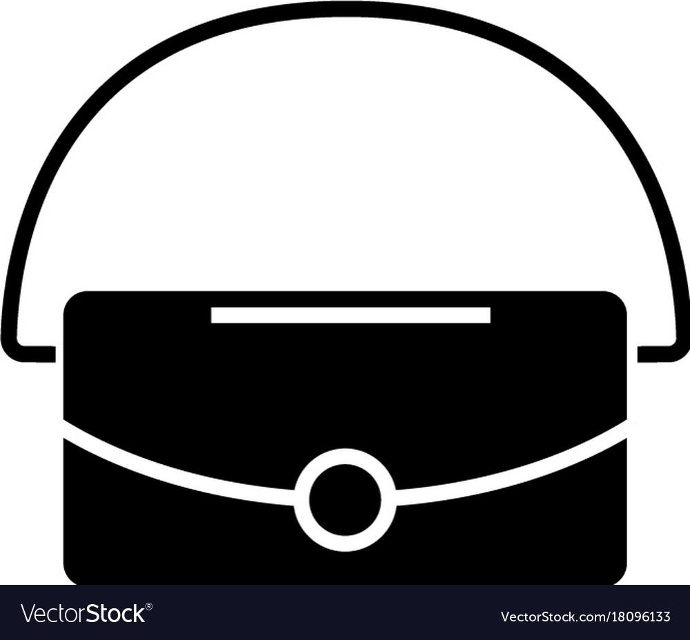 Bag icon black sign on