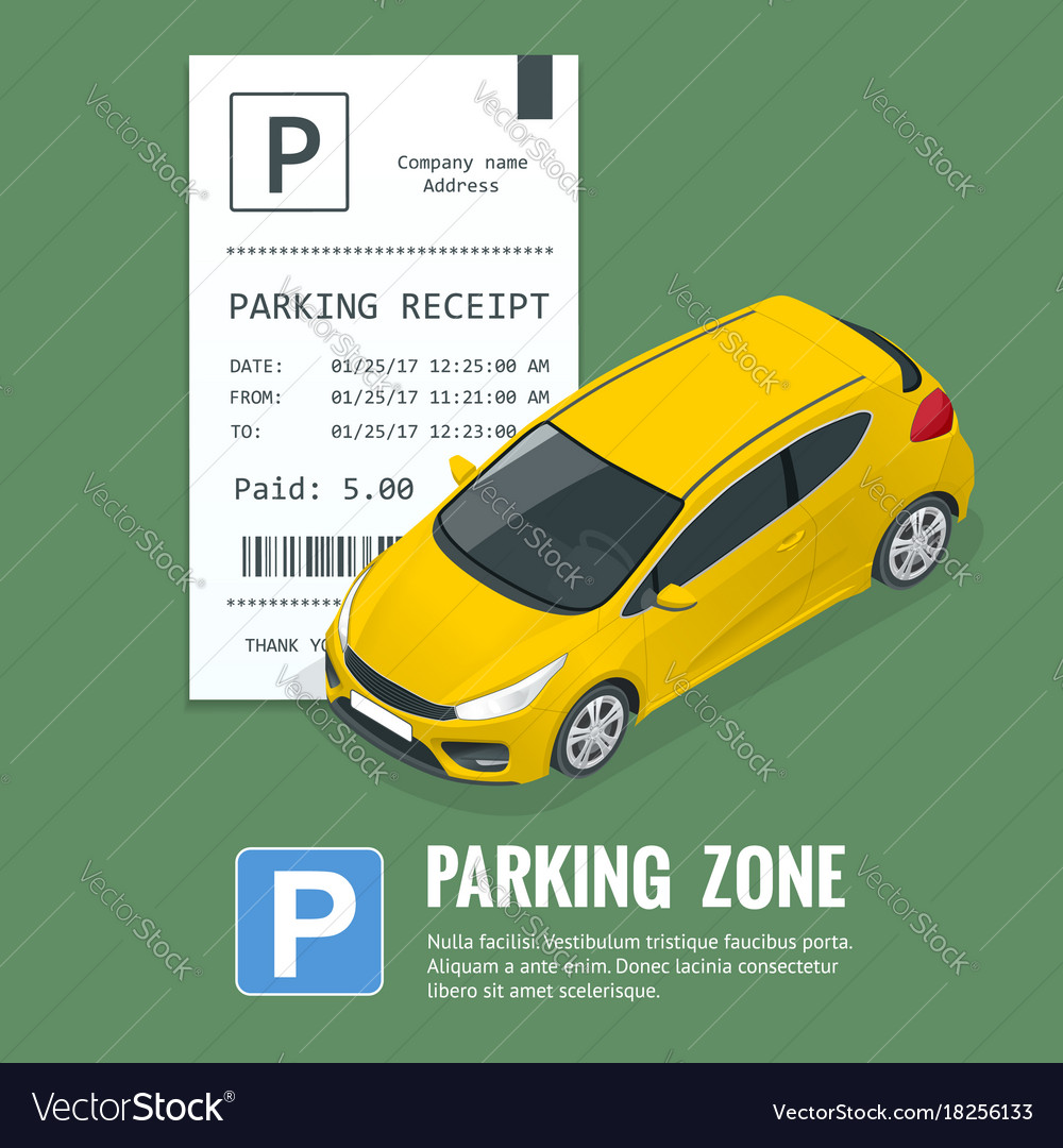 Cars in the parking lot and parking tickets