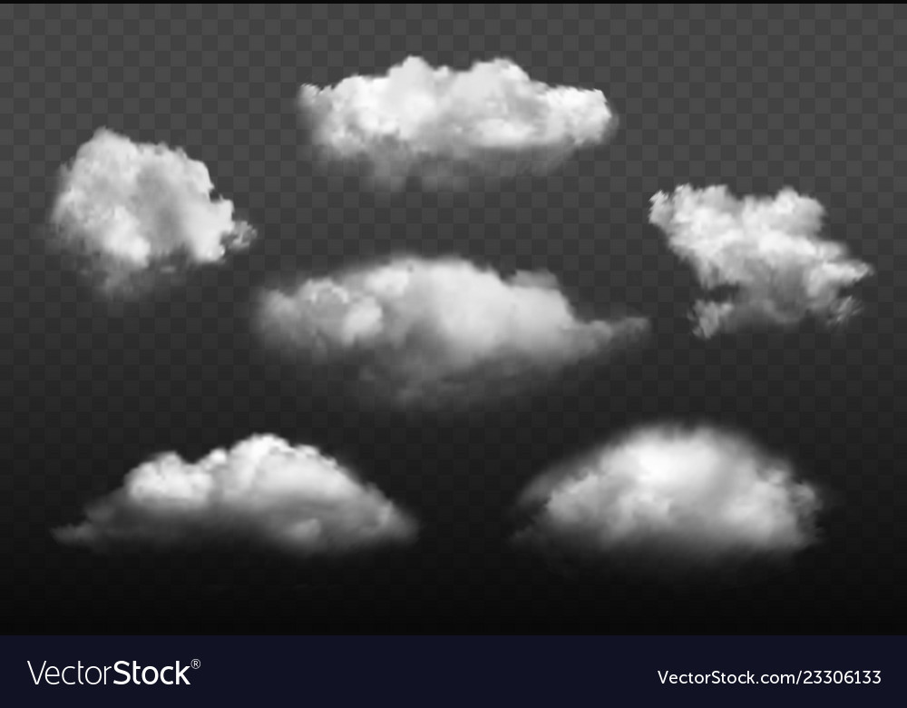 Clouds realistic blue cloudy sky weather elements