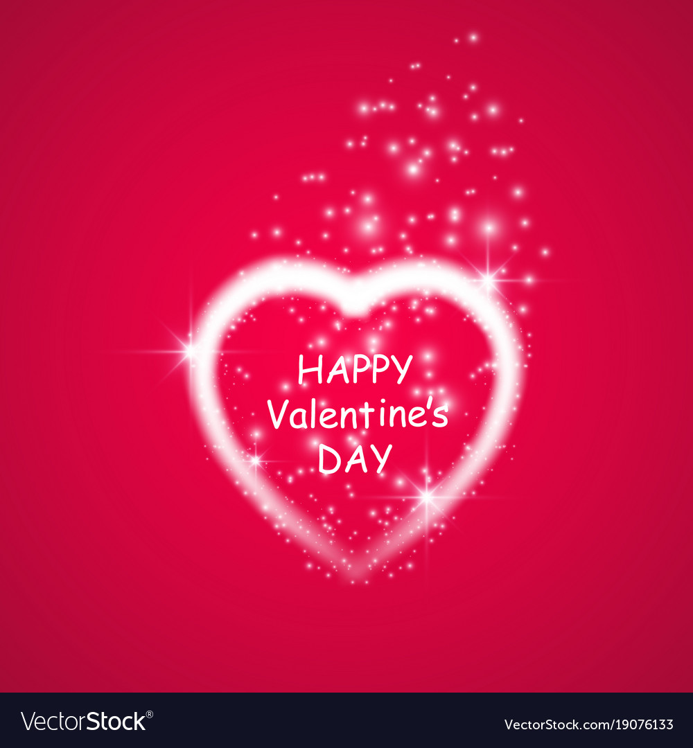 Happy Valentines Day Greeting Card I Love You 14 Vector Image