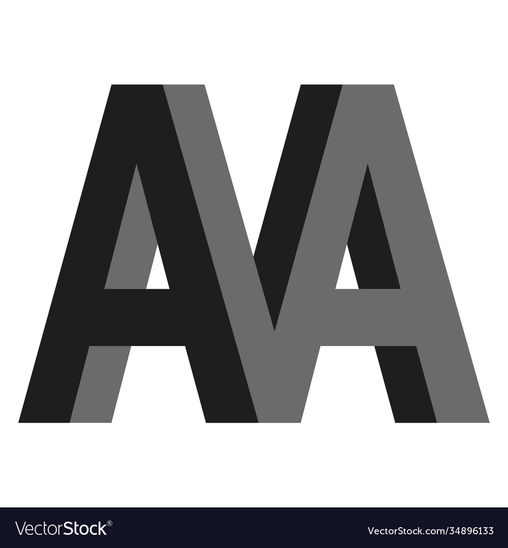 Letters a aa m logo creative concept flat