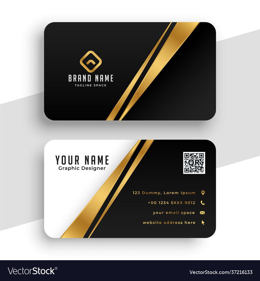 Modern golden business card template design