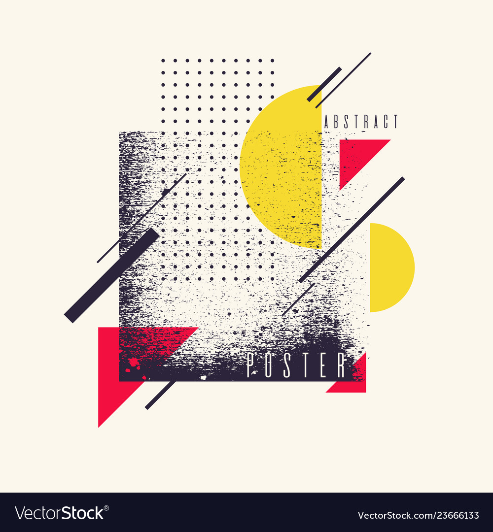 Retro abstract geometric background the poster