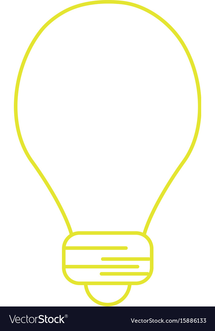 Silhouette light energy bulb to illumination vector image