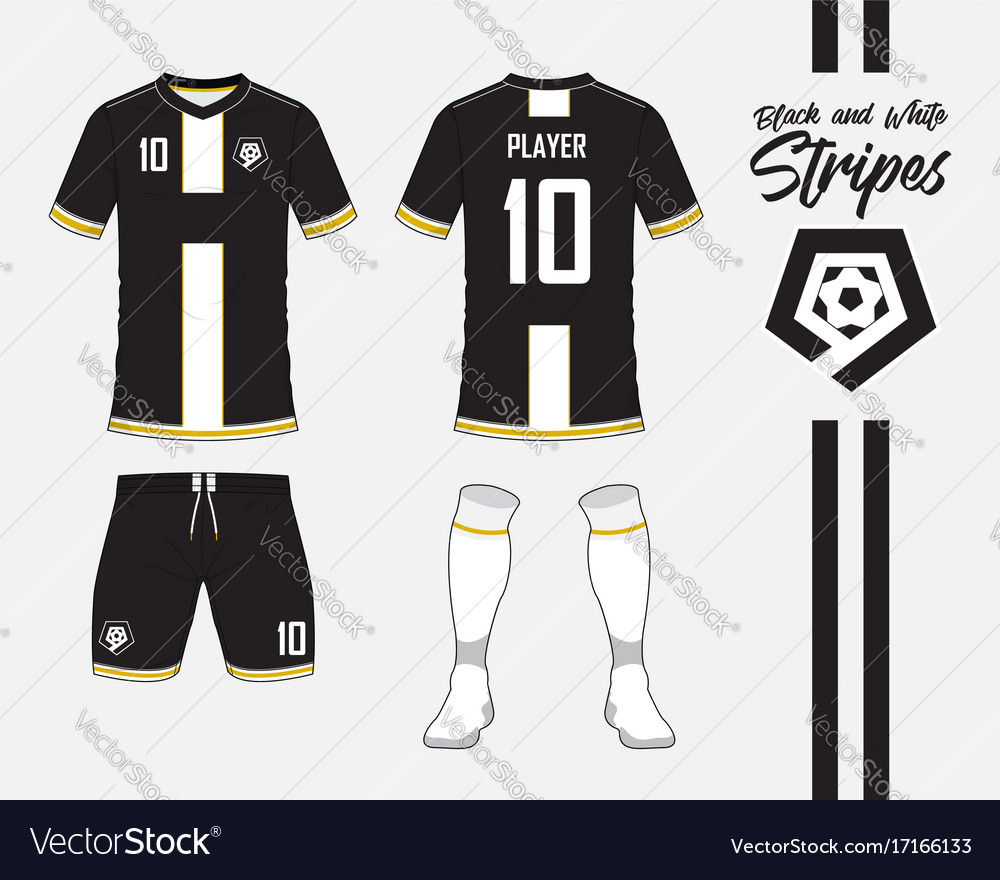 Soccer kit or football jersey template and logo Vector Image a0158cddb