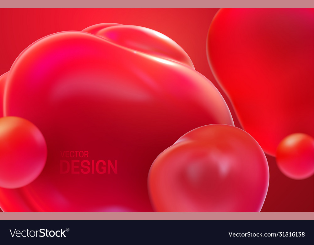 Abstract background with dynamic 3d bubbles
