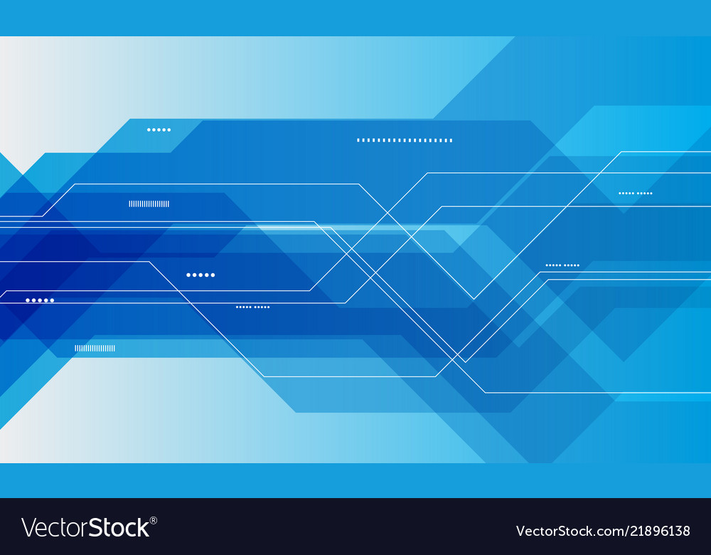 Abstract blue technology communication concept