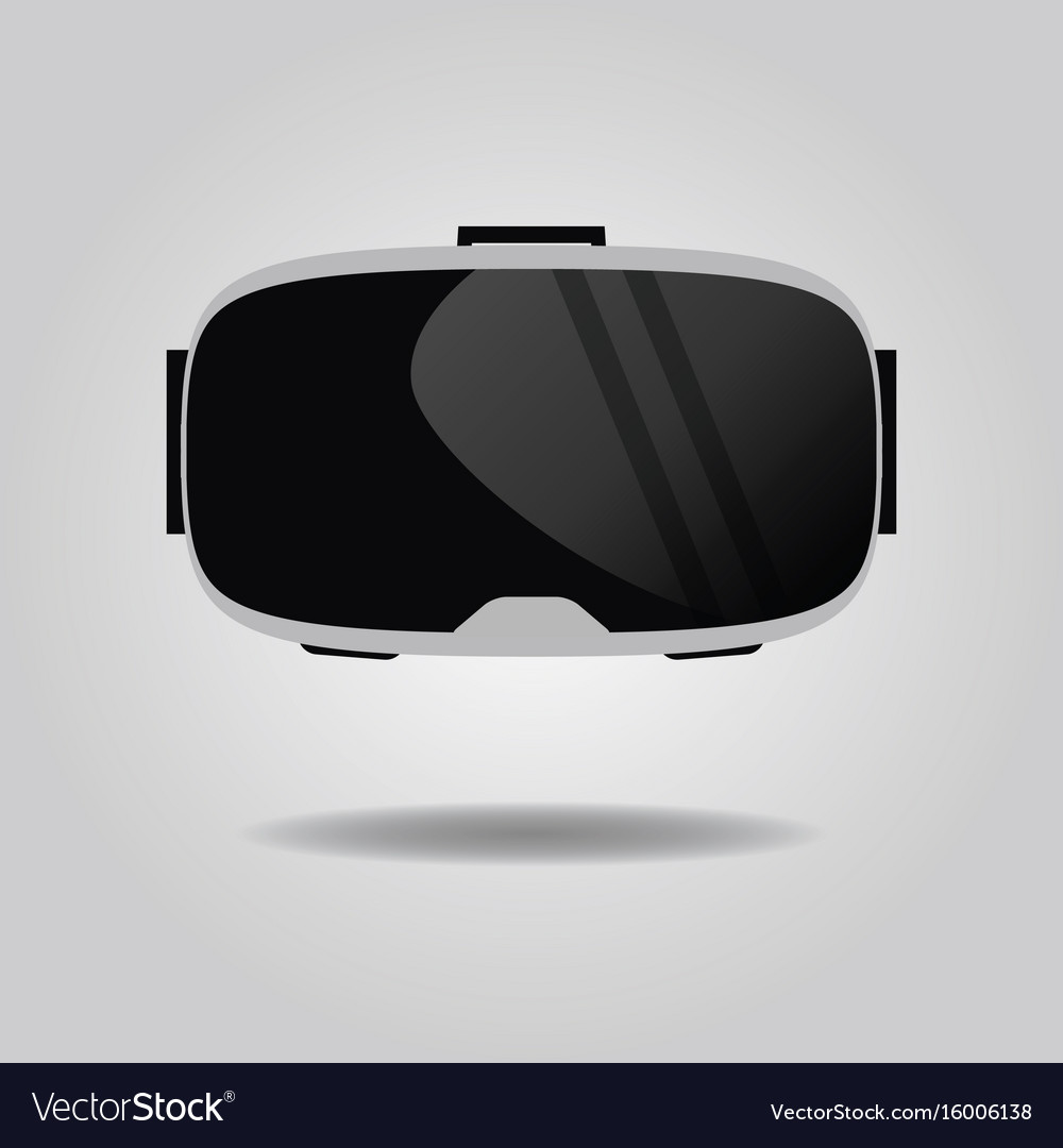 4f6583ef7d56 Abstract virtual reality glasses icon on gray Vector Image
