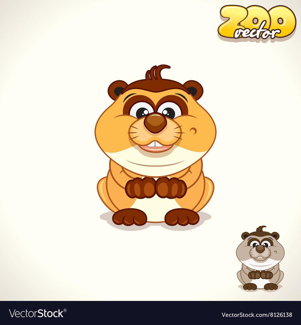 Cartoon meerkat character