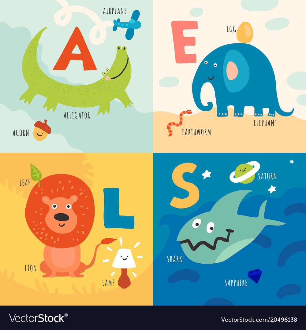 Children alphabet concept vector image