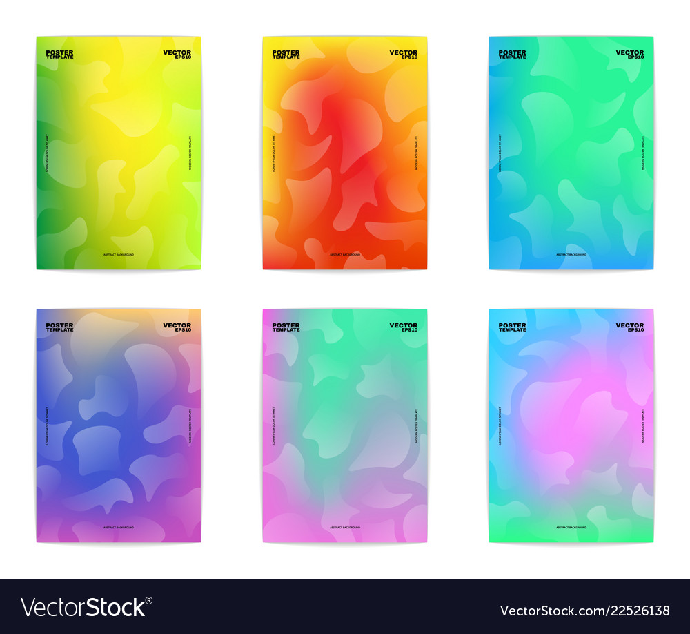 Colorful poster set
