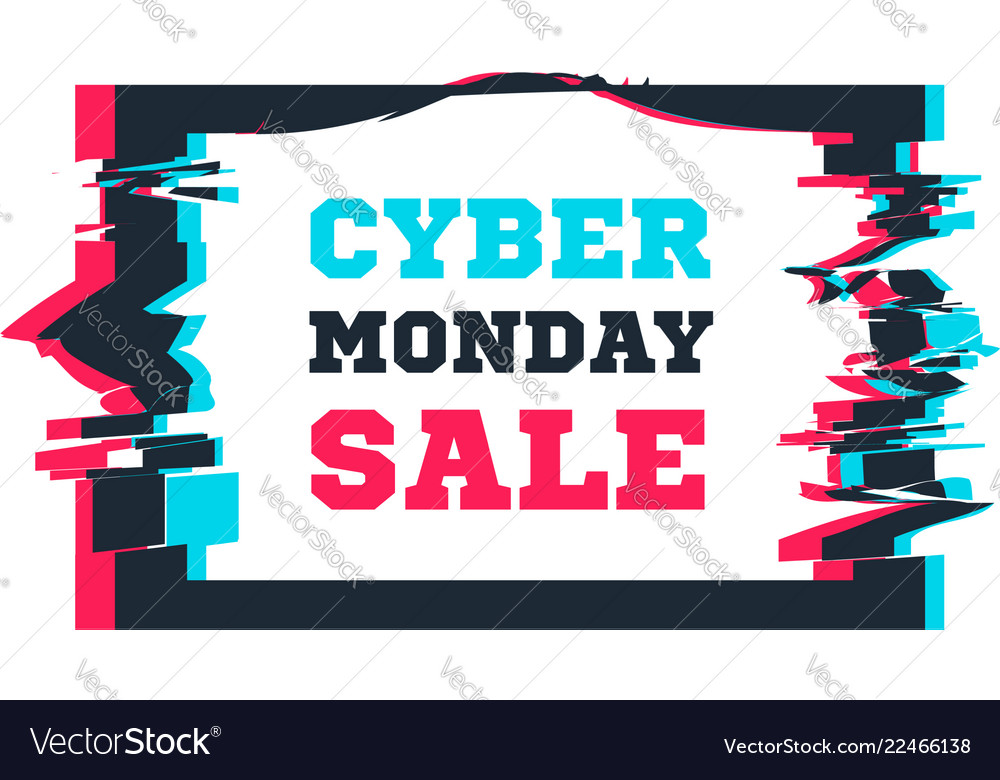 Cyber monday sale on the background of the screen