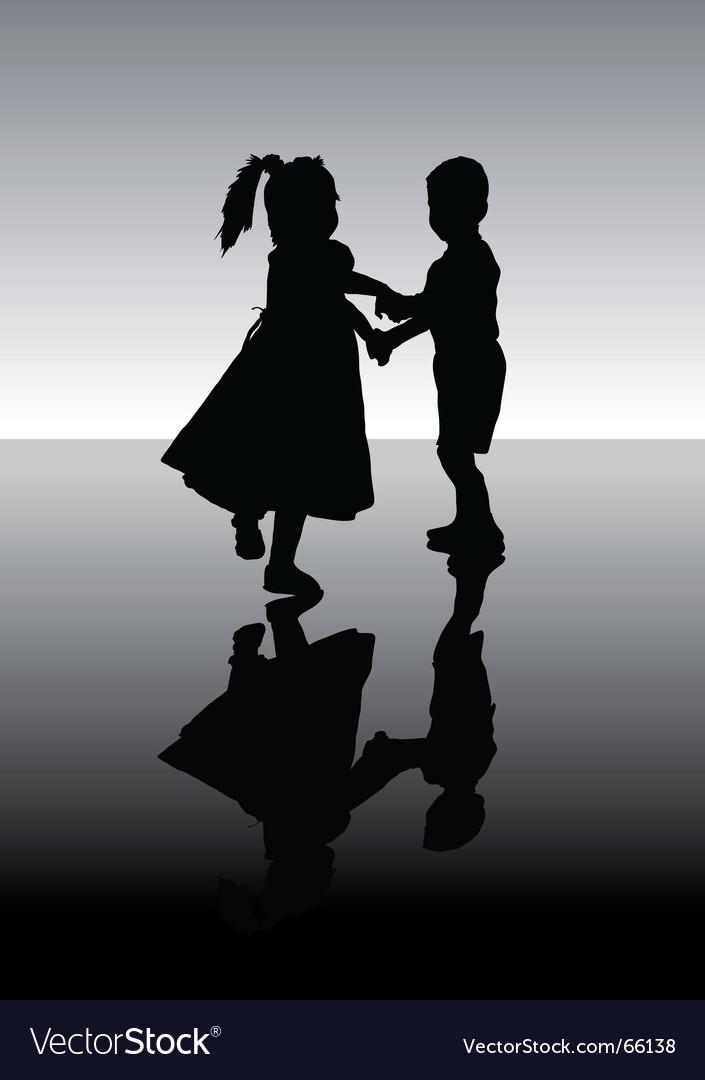 Dancing children vector image