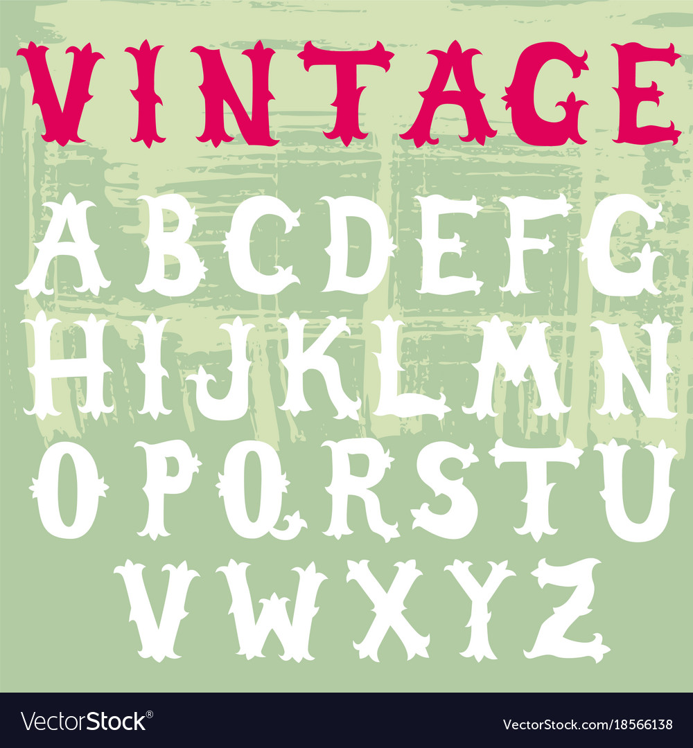 Doodle font vintage style collection