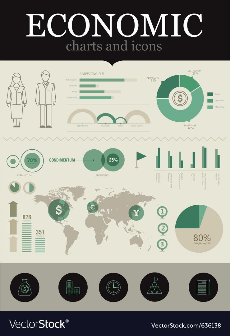 Economic infographic vector image