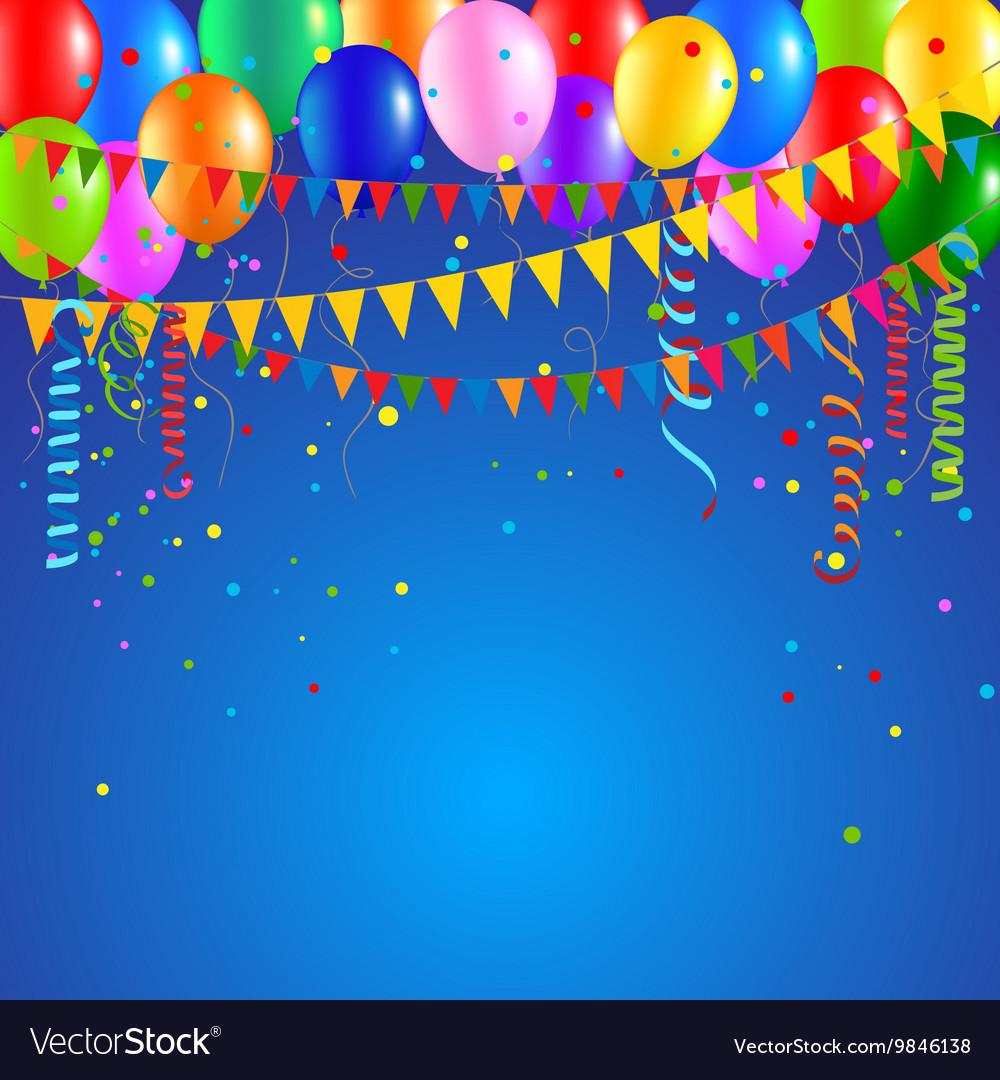 Festive party balloons