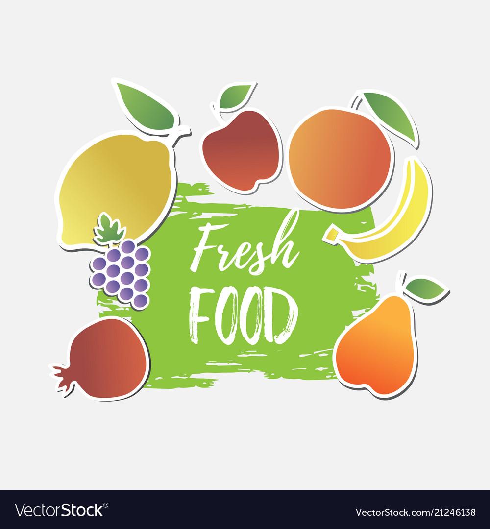Fresh food banner