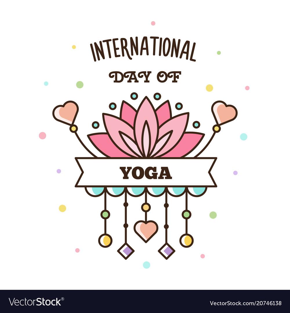 international day of yoga vector image