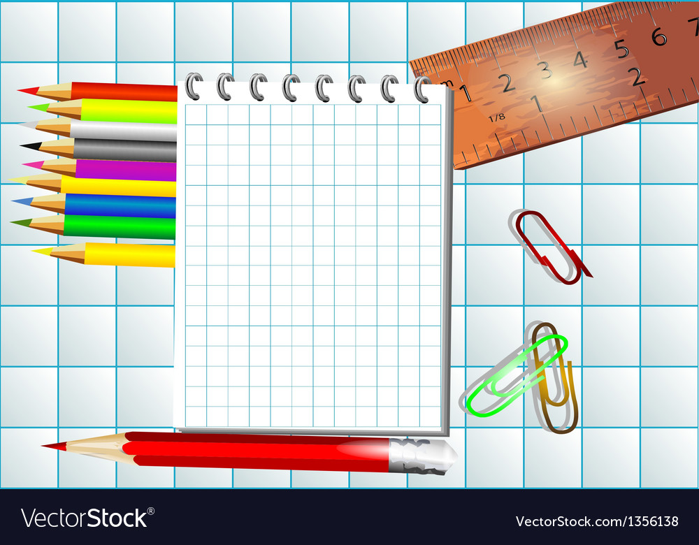Mathematics background with notepad